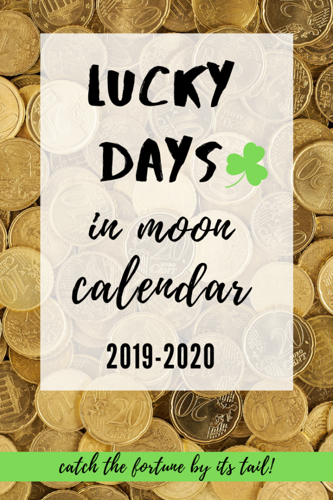 lucky days moon calendar