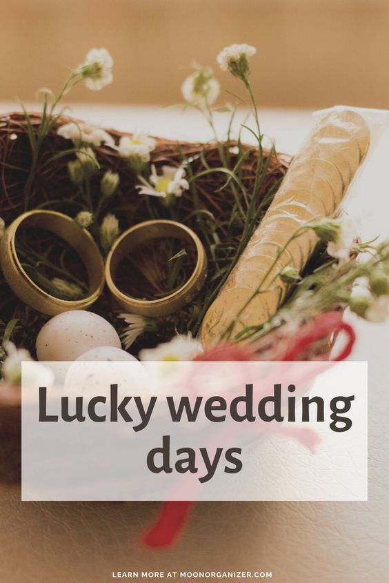 lucky wedding days