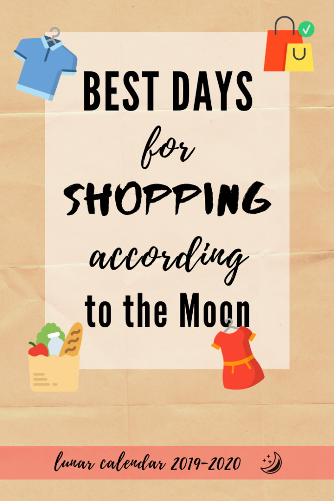 shopping lunar calendar