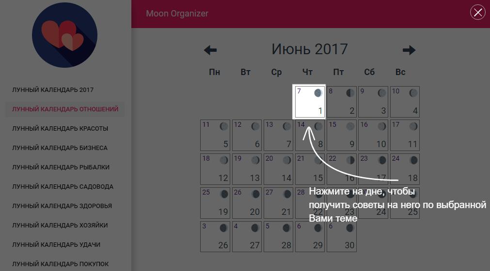 как использовать лунный календарь
