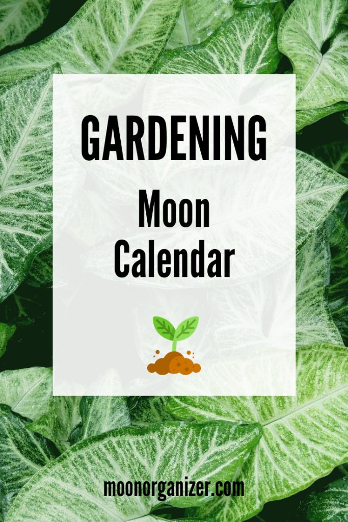Gardening Lunar Calendar