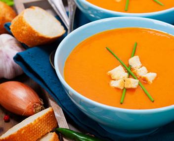 морковный суп с клюквой