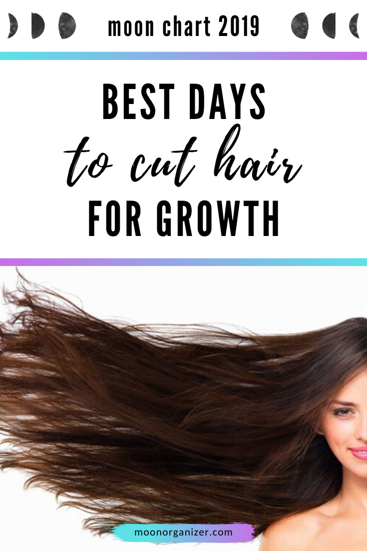 Best days to cut hair for growth - moon chart 10