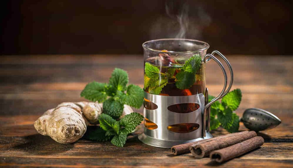 Moon magick herbs in tea
