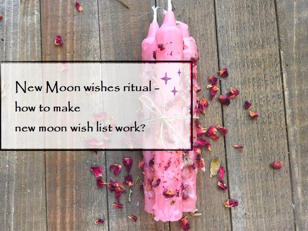 new moon wishes ritual