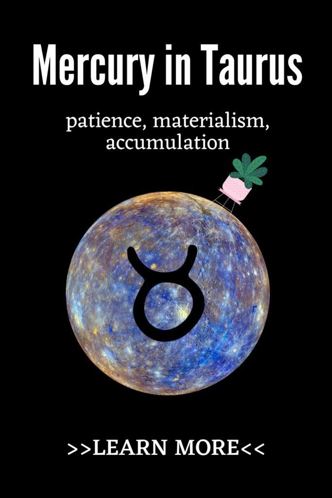 Mercury in Taurus