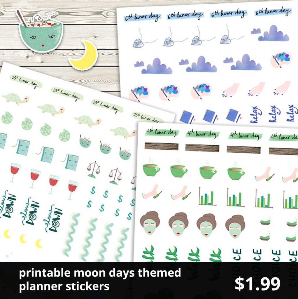 shop planner stickers