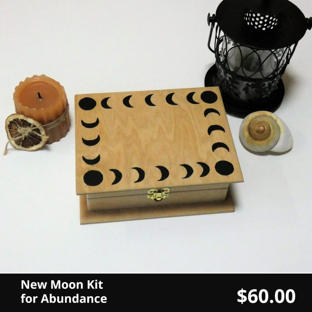 New Moon ritual kit for Abundance