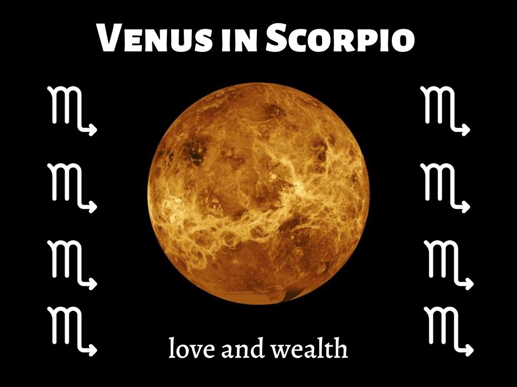 Scorpio effect on Venus