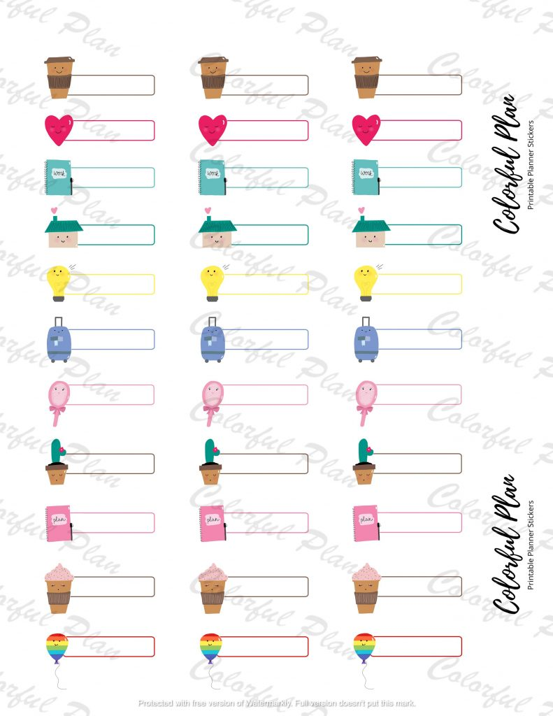 functional planner stickers