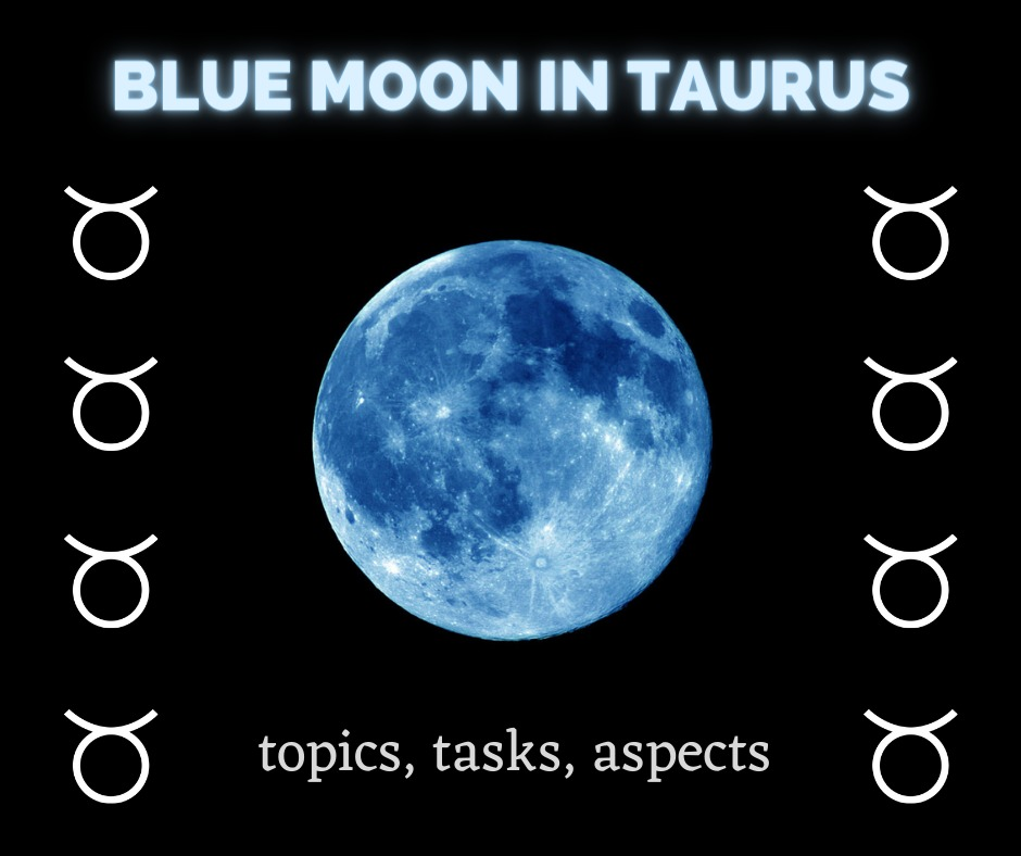 blue moon in Taurus