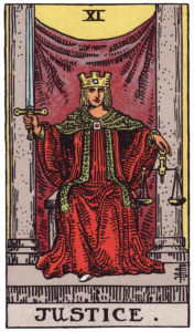 Justice Major Arcana meaning