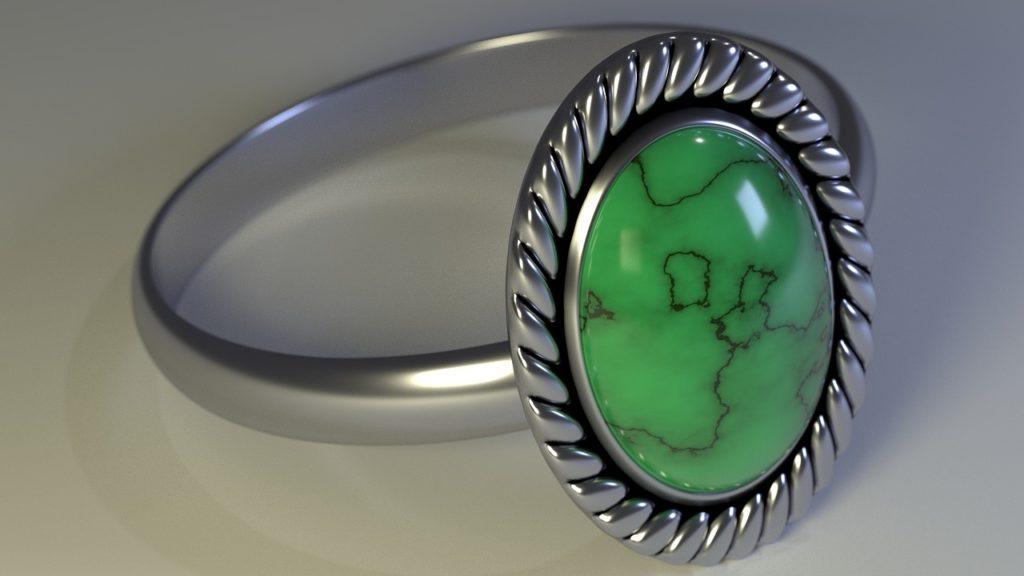 moldavite rings